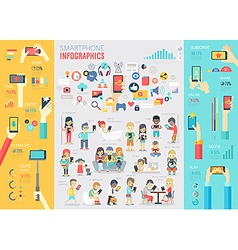 smartphone info vector image vector image