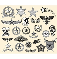 Star collection vector image vector image
