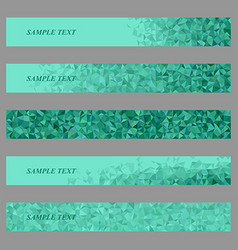 Teal triangle web banner template design set vector