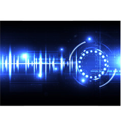 Technological spce sound wave light effect vector