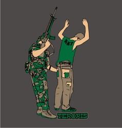 Terrorist vector image vector image
