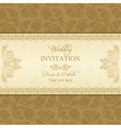 Turkish cucumber wedding invitation gold vector