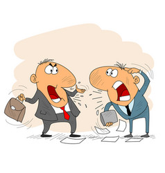 two arguing businessman vector image vector image