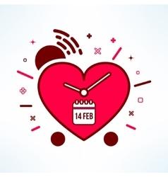 valentines alarm clock reminder in modern vector image vector image