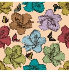 vintage seamless floral wallpaper vector image vector image