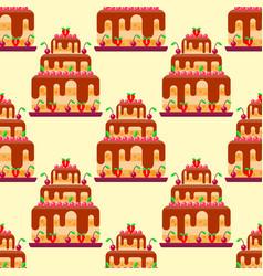 wedding cake pie sweets dessert bakery flat vector image vector image
