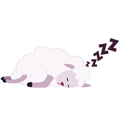 White Sheep Sleeping vector image vector image