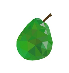 Low poly pear icon green vector