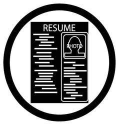 Resume black white icon vector