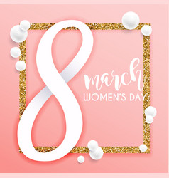 8 march womens day greeting card template vector