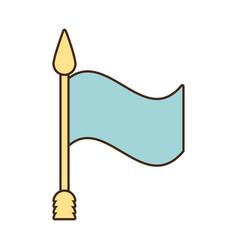 flag ribbon banner message blank vector image