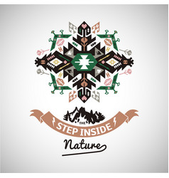 Colorful tribal navajo style ornamental vector