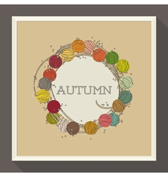 Abstract autumn design with colorful beads vector image