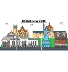 Bronx new york city skyline architecture vector