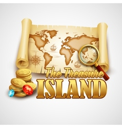 Treasure island template vector
