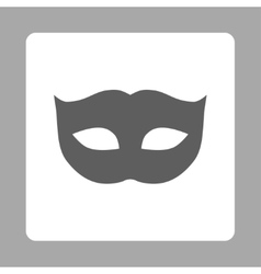 Privacy mask flat dark gray and white colors vector
