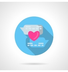 Online declaration of love round icon vector
