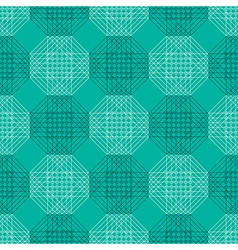 Pattern with blue polygons vector