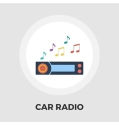 Car radio flat icon vector image