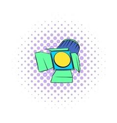 Studio lighting icon comics style vector image