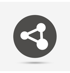 Share sign icon link technology symbol vector