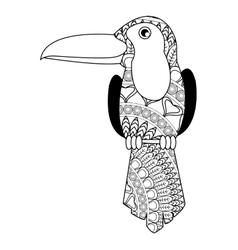 toucan mandala icon vector image