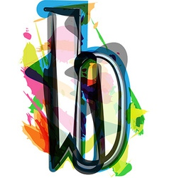 Artistic font - letter b vector