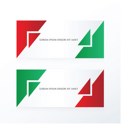 Banner abstract red green vector