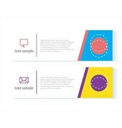 Banners template set vector