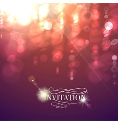 Bokeh light vintage background vector image vector image