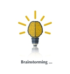Brainstorming vector image vector image