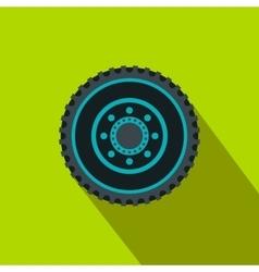 Car wheel flat icon vector image vector image