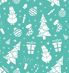 Christmas night pattern 2 vector image vector image