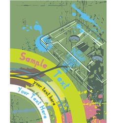 concert poster with cassette vector image vector image