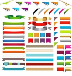 Corners and ribbons vector