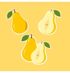 Design Stickers with Ripe Juicy Pear vector image vector image