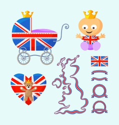 English royal baby set vector