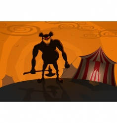 evil clown vector image vector image