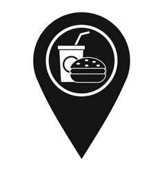 Fast food and restaurant map pointer icon vector
