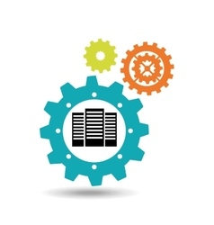 gears and technology icon vector image