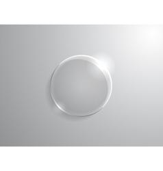 Glass circle vector