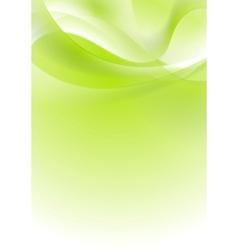 Green shiny wavy background design vector