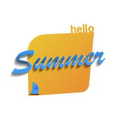 Hello summer 2 vector