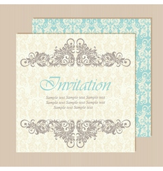 Invitation vintage card vector