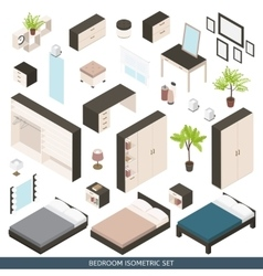 Isometric icon set vector