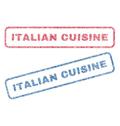 italian cuisine textile stamps vector image vector image