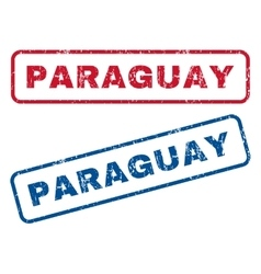 Paraguay rubber stamps vector