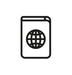 passport icon on white background vector image vector image