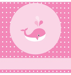 Pink whale vector