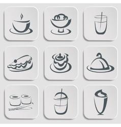 Restaurant menu silhouettes vector image
